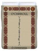 O'carroll Written In Ogham Duvet Cover