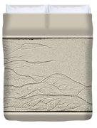 Ocean Sand Art Duvet Cover
