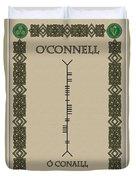 O'connell Written In Ogham Duvet Cover