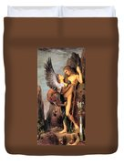 Oedipus And The Sphinx Duvet Cover