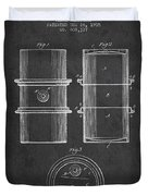 Oil Drum Patent Drawing From 1905 Duvet Cover
