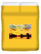 Okavango Delta Sunset Duvet Cover