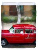 Red Bel Air Duvet Cover