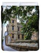 Peek Through The Tree's Of Old City Jail Duvet Cover