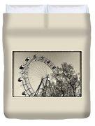 Old Ferris Wheel Duvet Cover