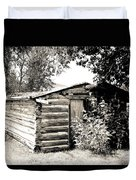 Old Log Homestead Duvet Cover
