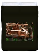 Old Mowing Machine Duvet Cover