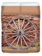 Old Wagon Wheel 2 Duvet Cover