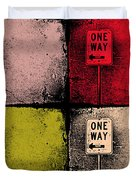 One Way Street Duvet Cover