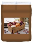 Onions And Garlic In A Crate Duvet Cover