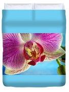 Pink Orchid Flower Details Duvet Cover