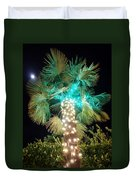 Outdoor Christmas Decorations Duvet Cover