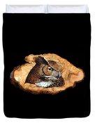 Owl On Oak Slab Duvet Cover