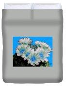 Painterly Cactus Flowers Duvet Cover