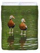 Pair Black-bellied Whistling-ducks Duvet Cover