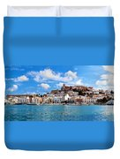 Panorama Of Ibiza Spain Duvet Cover