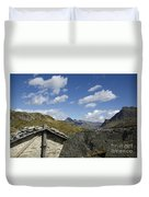 Panoramic View Over Mountain Duvet Cover