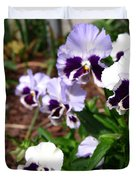 Pansy From The Chalon Supreme Primed Mix Duvet Cover