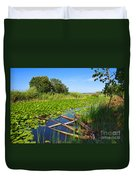 Pateira Boats Duvet Cover by Carlos Caetano