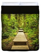Path In Temperate Rainforest Duvet Cover
