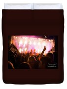 People On Music Concert Duvet Cover