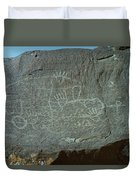 Petroglyph Rock Duvet Cover