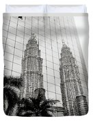 Petronas Towers Reflection Duvet Cover