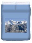 Pikes Peak Snow Duvet Cover