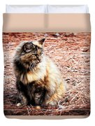 Pine Needle Kitty Duvet Cover