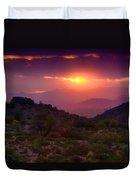 Pink Desert Skies  Duvet Cover