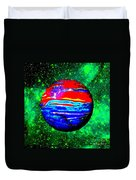 Planet Disector Red 1 Duvet Cover