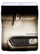 Plymouth Barracuda Grille Emblem Duvet Cover
