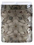 pointed vault of Saint Barbara church Duvet Cover