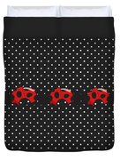 Polka Dot Lady Bugs Duvet Cover