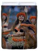 Polynesian Dancers Duvet Cover
