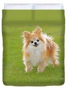 Pomeranian Dog Duvet Cover