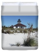 Port Boca Grande Lighthouse Duvet Cover