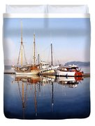 Port Orchard Marina Reflections Duvet Cover