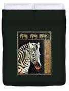 Portrait Of A Zebra Duvet Cover