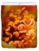 Portulaca In Orange Fading To Yellow Duvet Cover
