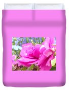 Pretty Pink Flower Duvet Cover