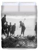 Prohibition Feds Destroy Liquor  1923 Duvet Cover
