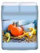 Pumpkins Decorations Duvet Cover