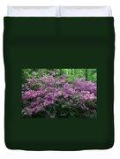 Purple Azaleas Duvet Cover