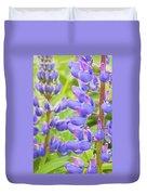 Purple Lupine Flowers Duvet Cover