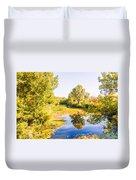 Quiet River In The Park Duvet Cover