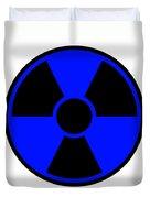 Radiation Warning Sign Duvet Cover