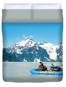 Rafters On The Alsek River Duvet Cover