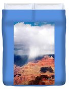 Raining In The Canyon Duvet Cover