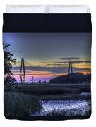 Charleston Bridge Low Tide Duvet Cover